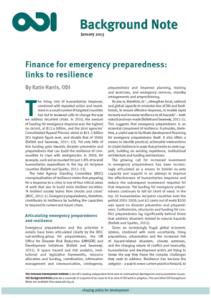 finance for emergency prep